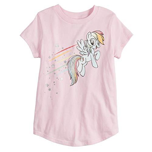 Jumping Beans Little Girls' 4-12 Rainbow Dash Tee 6 Pink]()