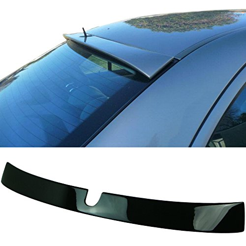 Pre-painted Roof Spoiler Fits 2001-2007 Mercedes-Benz C-Class W203 | L Style Painted #040 Black ABS Rear Tail Lip Deck Boot Wing Other Color Availble by IKON MOTORSPORTS | 2002 2003 2004 2005 2006