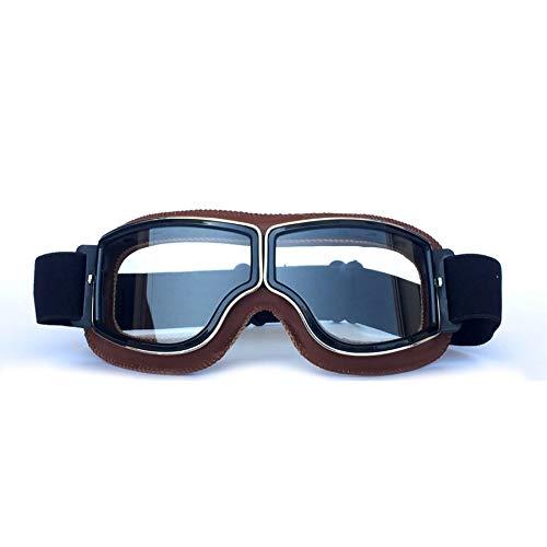 Yopria Fliegerbrille Herren, Motocross Brille Vintage Sonnenbrillen Damen MTB Brille im Freien Rennfahrer-Motorrad…