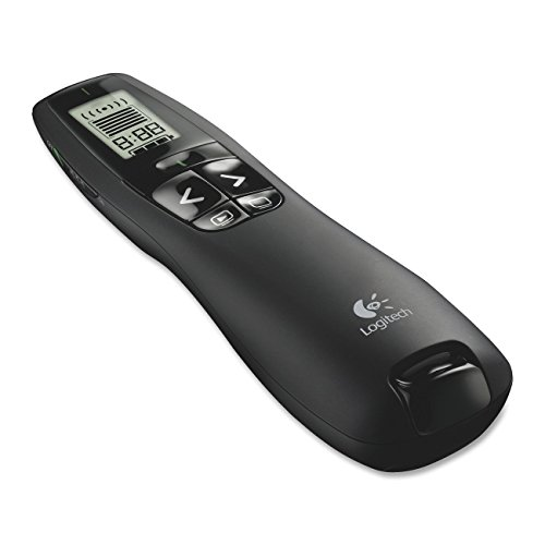 ANBE Logitech Wireless Presenter R800 with Laser Pointer Red with Soft Case Included