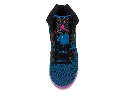 Nike Air Jordan Spike Forty Bg, Zapatillas de Deporte para Niños Negro / Rosa / Naranja (Black / Fr Pink-Pht Bl-Atmc Orng)