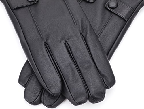 Amazon.com  Luxury Dress Napa Leather Winter Gloves for Men - Texting -  Touchscreen – Cold Weather - Driving – Waterproof - Fleece Liner  Clothing 5a1b74e6e