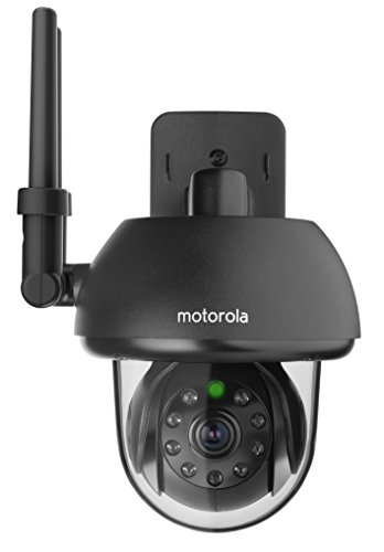 Motorola FOCUS73-B Wi-Fi HD Outdoor Home Monitoring Camera with Remote Pan, Tilt & Zoom (Black) by Motorola