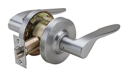 PDQ Grade 2 SD 126 Heavy Duty Non-Handed Commercial Cylindrical MEMPHIS Lever Satin Chrome Finish 26D (Passage)