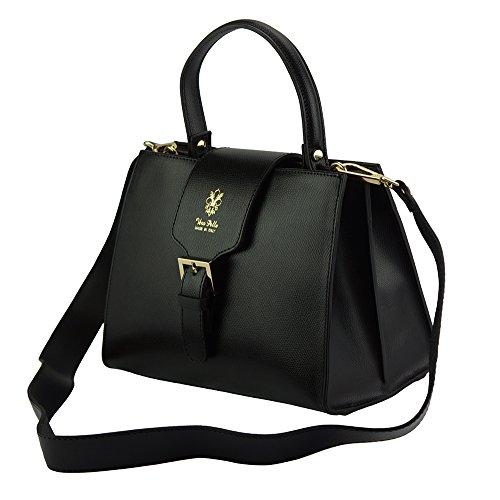 305 Becerro Bolso De Market Negro Mano Florence Cuero En Leather Vittorio 4q8xnwzZ