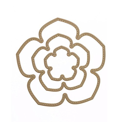 Flower Petal Stencil (Metal Cutting Dies,Awakingdemi Five Petal Flowers DIY Metal Stencil Scrapbook Craft Embroidery Cutting Die)