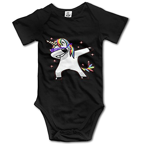 Forest Station Dabbing Unicorn Short-Sleeve Baby Climbing Suit Dab Hip Hop Funny Magic by Forest Station