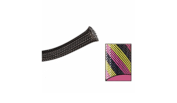 Keep It Clean 13368 Wire Loom 1 1//2 Black Pink and Yellow Strips Ultra Wrap Wire Loom 10 Feet