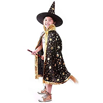 Gamtec Disfraces de Halloween Bruja Mago Capa con Capa y Sombrero Sombrero Mago ni?o ni?os Cosplay Traje de Vestido de Lujo para los ni?os Peque?os ...