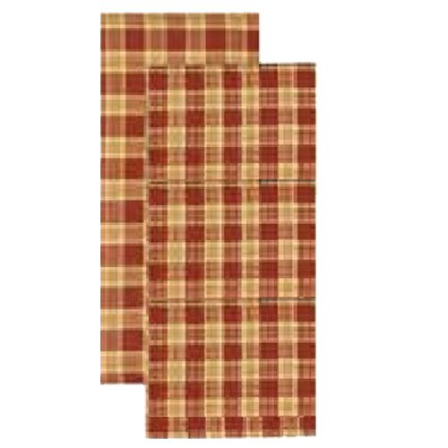 Home Collection by Raghu New Castle Plaid Burnt Orange, Yellow & Sand Hand Towel, 18