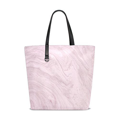 ISAOA tote-001 - Bolso de tela de Piel para mujer multicolor talla única