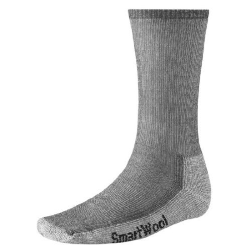 Smartwool Mens Hiking Medium Crew Sock (Large Gray)
