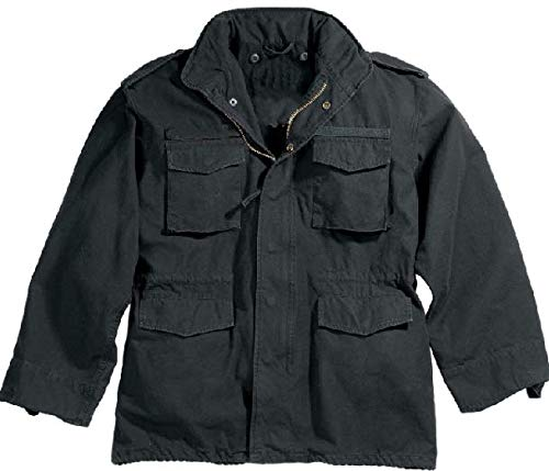 M-65 Jacket M-65 Vintage - Jacket Black Vintage Military M-65 Field Army M65 Jacket Get 1 Pcs (Large)