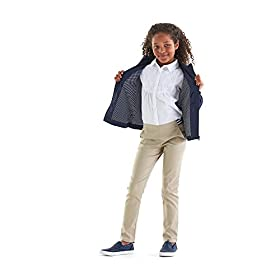 French Toast Girls' Stretch Contrast Elastic Waist Pull-on Pant