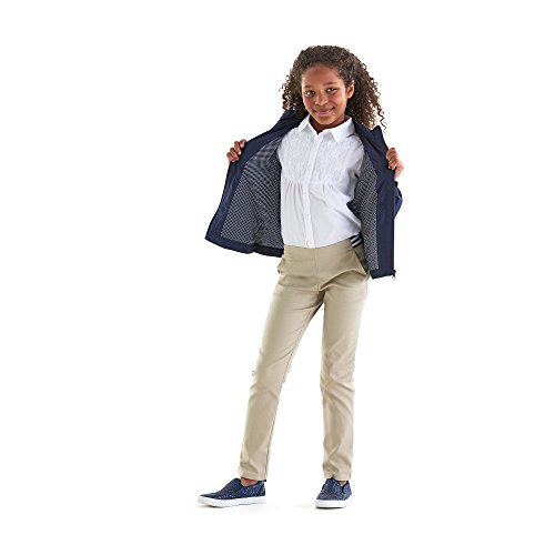 French Toast Girls' Big Stretch Contrast Elastic Waist Pull-on Pant, Khaki, 7 by French Toast (Image #7)