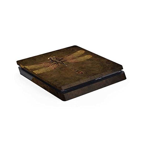 Fantasy & Dragons PS4 Slim (Console Only) Skin - Steampunk & Gear Dragonfly | Skinit Art Skin 3