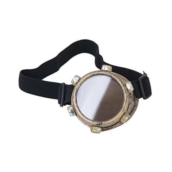 SODIAL Safety goggles Vintage Steampunk goggles cyclops goggles Gothic Cosplay Costume for the left eye (Brass) 3