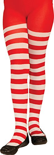 [Forum Novelties Novelty Candy Cane Striped Christmas Tights, Child Large] (White Cat Costume For Women)