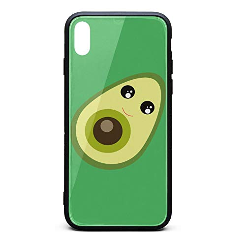 Phonerebey iPhone Xs Max Case,Avocado Anti-Scratch Shockproof Slim Cover Case Compatible with Apple iPhone Xs Max Case,TPU and Tempered Glass