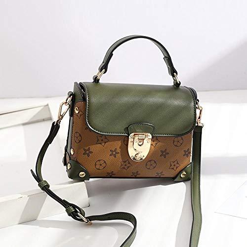 Maerye Tempo libero stampa moda borsa lucchetto in metallo borsa a tracolla singola B