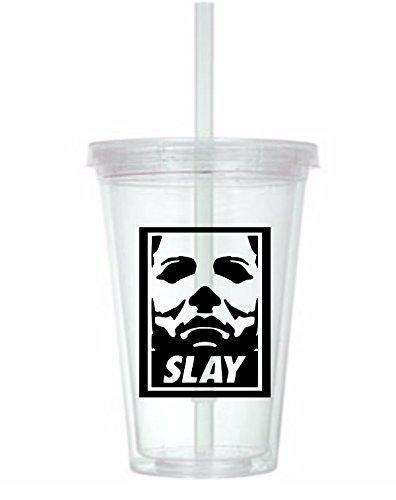 Michael Myers Slay Halloween Tumbler Cup]()