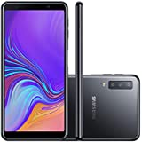 "Smartphone Samsung Galaxy A7 2018 A750F 64GB Desbloqueado Preto - Android 8.0 Oreo, Tela 6.0"", Câmera Traseira Tripla 24 MP + 8MP + 5MP"