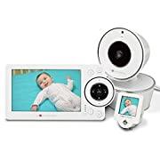 "Project Nursery 5"" High Definition Baby Monitor System with 1.5  Mini Monitor - White"