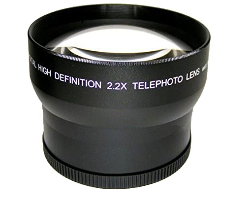High Grade 2.2x Telephoto Conversion Lens (62mm) For Sony FDR-AX700 by Digital Nc