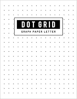 picture relating to Dot Grid Printable known as Graph Paper Dot Grid: Letter Dot Paper Blank Graphing