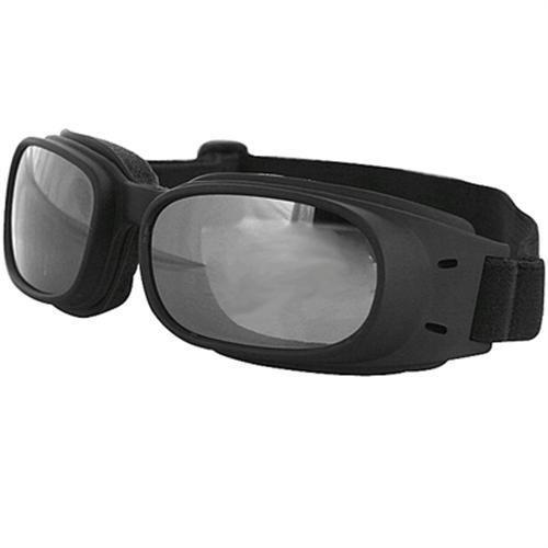 BOBSTER Black/Smoke Reflective Piston Motorcycle Goggle (ea) (BPIS01R)