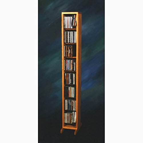 Dowel CD Storage Tower (Honey Oak) by Wood Shed
