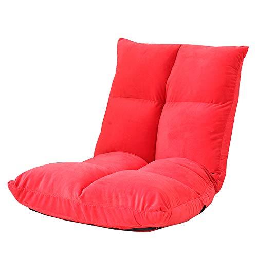 LJFYXZ Sillón Reclinable Ajuste de 5 velocidades Sofá Individual Fácil de Quitar y Lavar Silla de computadora Dormitorio Sala de Estar amortiguar (Color : Red)