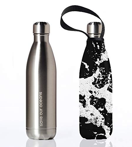- BBBYO Premium Double Wall Insulated Stainless Steel Water Bottle + Protective Carry Cover Available in 17oz, 25oz and 34oz Sizes