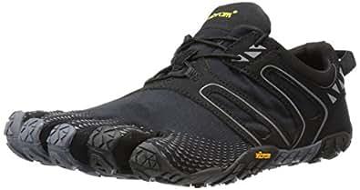 Vibram Men's V Trail Runner, Black/Grey, 6.5-7 M US / 38 EU