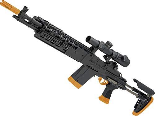 Evike CYMA Full Metal M14 EBR Designated Marksman Rifle Airsoft AEG (Color: Black/EBR Stock)