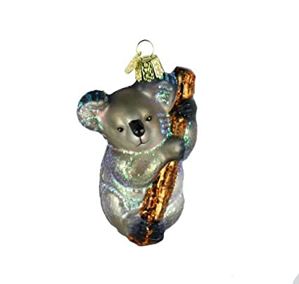 Old World Christmas Ornaments Koala Bear Glass Blown Ornaments For Christmas Tree