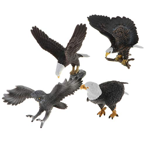 Egg Babies Bald Eagle - Realistic Eagles Owl Figurines Animal Figures, Easter Eggs Cake Toppers Christmas Birthday Gift