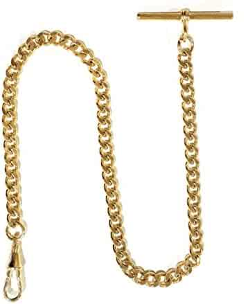 Dueber Gold Plated Steel Deluxe Albert Pocket Watch Chain
