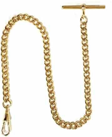 Dueber Gold Plated Steel Deluxe Albert Pocket Watch Vest Chain