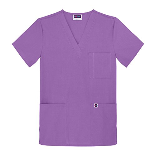 Sivvan Unisex Scrubs V-Neck 3 Pocket Top (Available in 12 Colors) - S8304 - Lavender - 3X