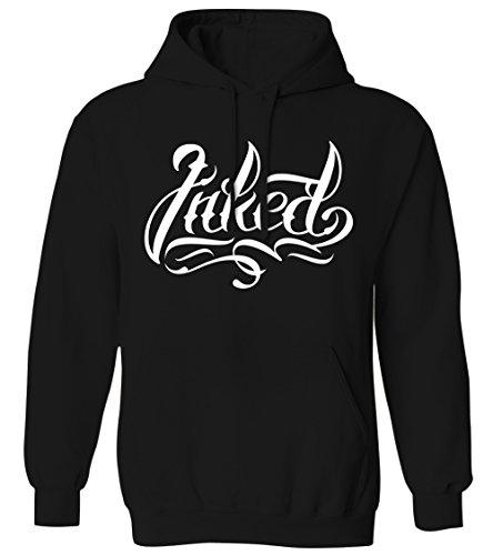 Inked - Script Tattoo Lettering Body Art Ink Mens Hoodie Sweatshirt (Black, 2X-Large) ()