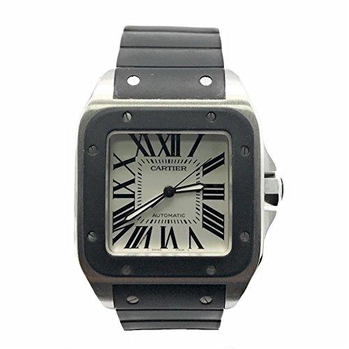 Cartier-Santos-100-swiss-automatic-mens-Watch-W20121U2-Certified-Pre-owned