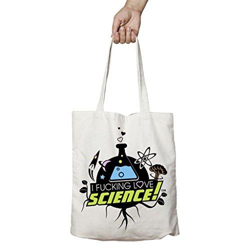 I Love Science, Borsa tote donna beige Beige taglia unica