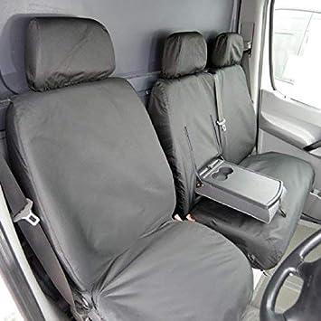 VW Volkswagen Crafter SINGLE DRIVERS VAN SEAT COVER BLACK WATERPROOF
