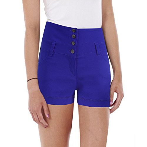 e donna pantaloni nero bianco ragazze Shorts alta sexies DI elettrico vita a Blu Miss MARCA pantaloncini rwFqnxXBSr