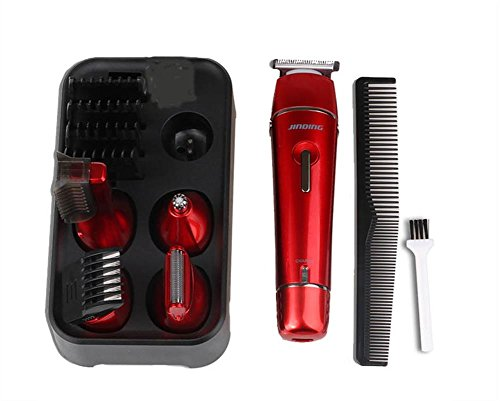 jindin electric hair clipper grooming kit nose ear beard trimmer shaver hair cutting suit for. Black Bedroom Furniture Sets. Home Design Ideas