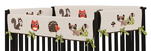 Sweet Jojo Designs Forest Friends Long Front Rail Guard Baby Boy Teething Cover Protector Crib Wrap by Sweet Jojo Designs (Image #1)