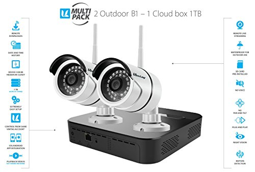 Vimtag Surveillance Outdoor Kit - 2 B1 Outdoor Camera, 1TB Cloud Storage Box | Plug/Play Wireless Security Solution by VIMTAG