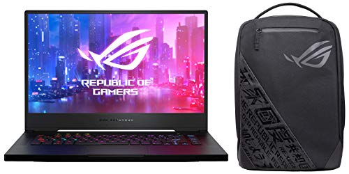 ASUS ROG Zephyrus M GU502GU-ES003T 15.6-inch FHD 144Hz Gaming Laptop (9th Gen Core i7-9750H/16GB RAM/512GB PCIe SSD/Windows 10/6GB NVIDIA GeForce GTX 1660 Ti Graphics/1.93 Kg), Black With free ROG bag