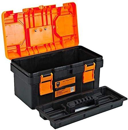 CHUNSHENN ツールボックス 工具箱 以下のために適した家庭用屋外修復ツールストレージボックス、オレンジ厚いプラスチック多機能17インチ(カラー:オレンジ、サイズ:40 * 20 * 20センチ)